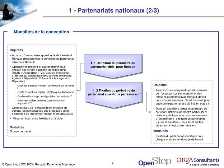1 - Partenariats nationaux (2/3)