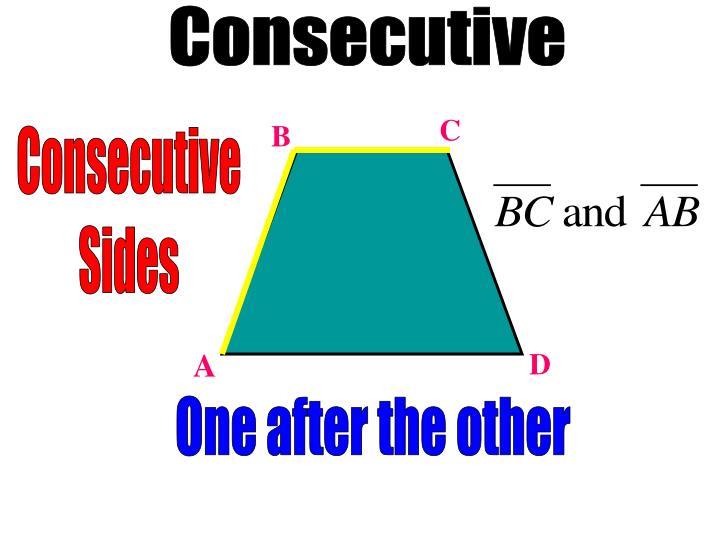 Consecutive