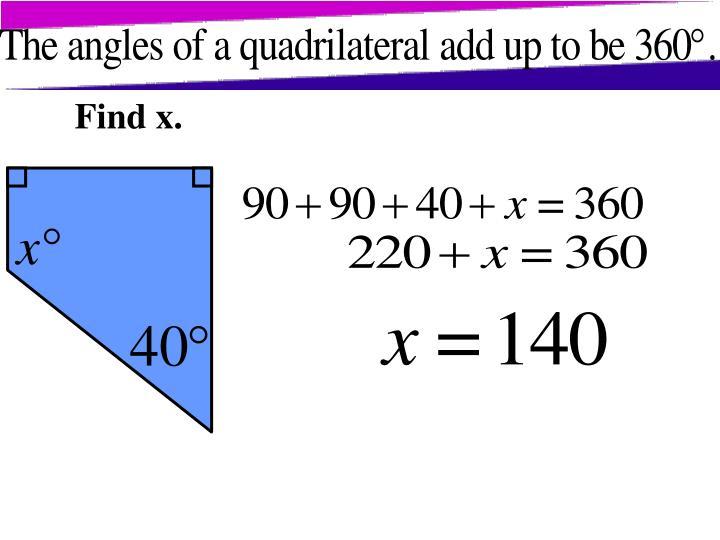 Find x.