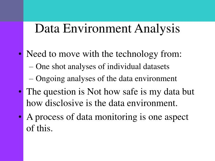 Data Environment Analysis