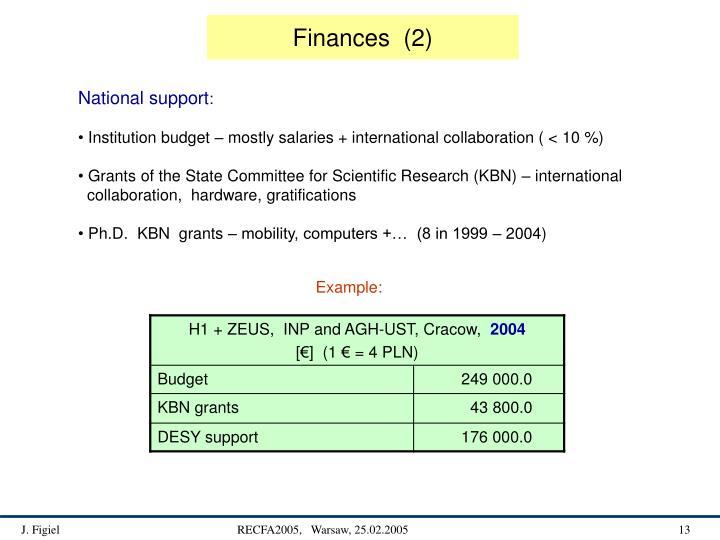 Finances  (2)