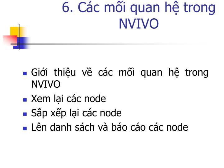 6. Các mối quan hệ trong NVIVO