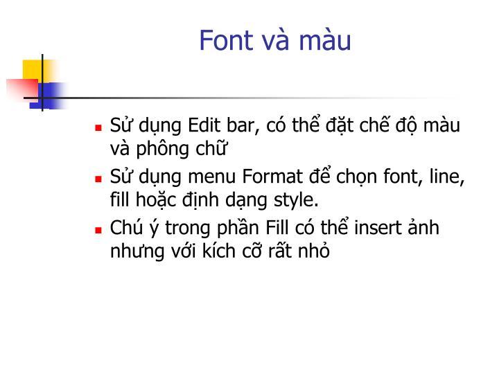 Font và màu