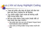 l u khi s d ng highlight coding