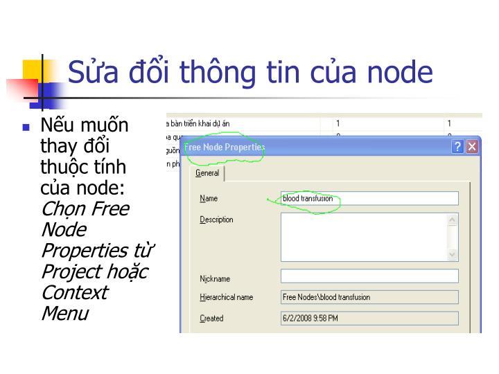 Nếu muốn thay đổi thuộc tính của node: