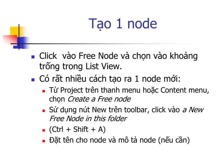 Tạo 1 node