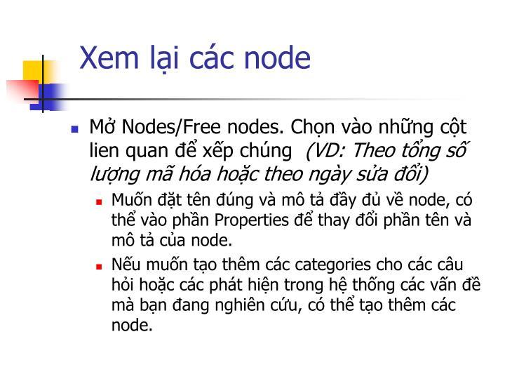 Xem lại các node