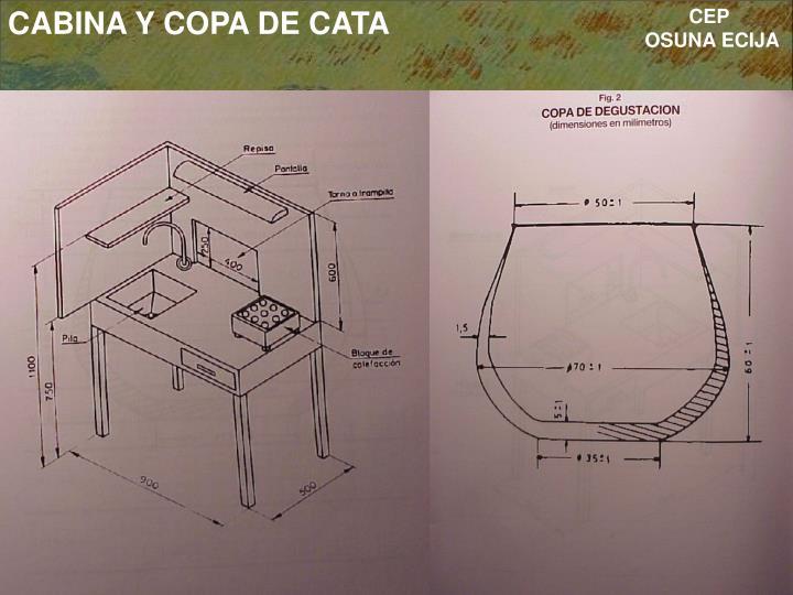 CABINA Y COPA DE CATA