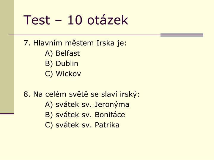 Test – 10 otázek