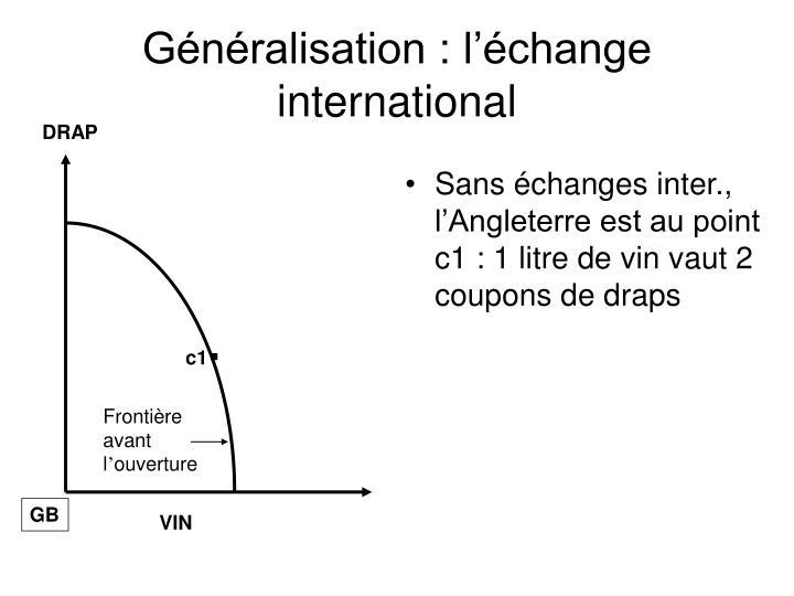 Généralisation : l'échange international