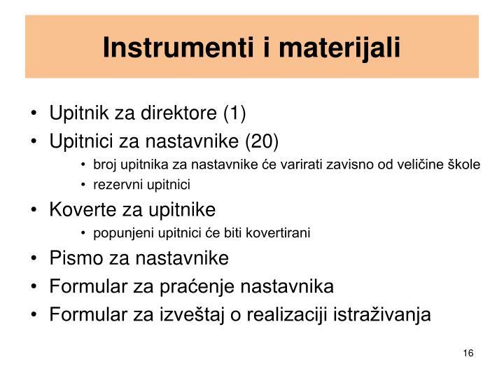 Instrumenti i materijali