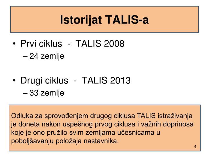 Istorijat TALIS-a