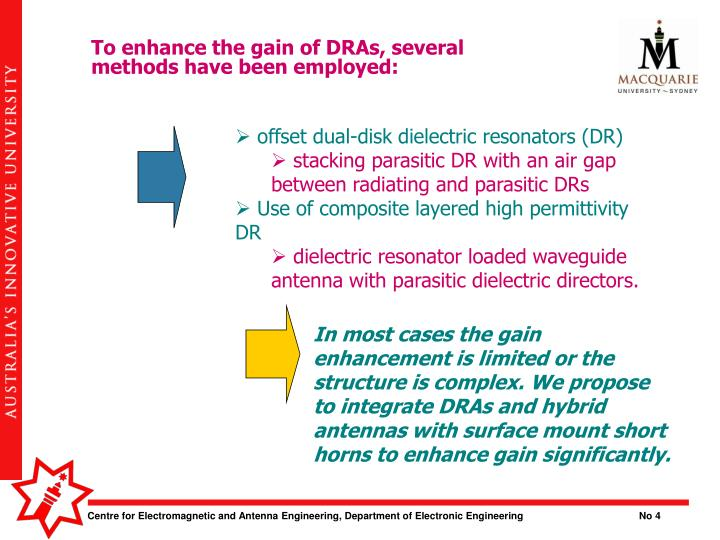 To enhance the gain of DRAs, several methods have been employed: