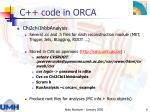 c code in orca