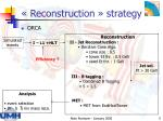 reconstruction strategy