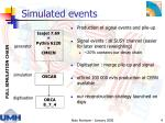 simulated events