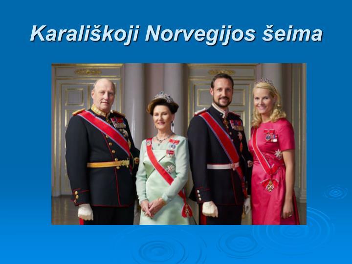 Karalikoji Norvegijos eima