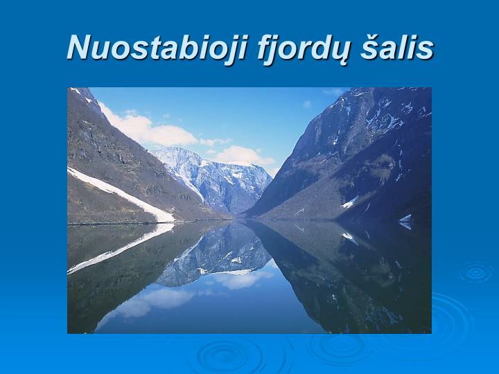 Nuostabioji fjord alis