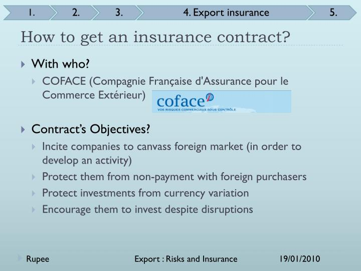 How to get an insurance contract?