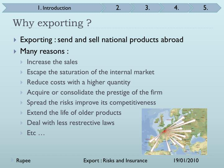 Why exporting ?