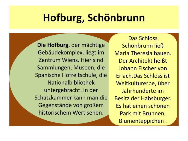 Hofburg, Schönbrunn