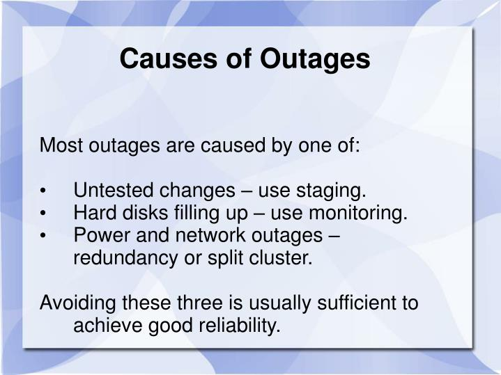 Causes of Outages