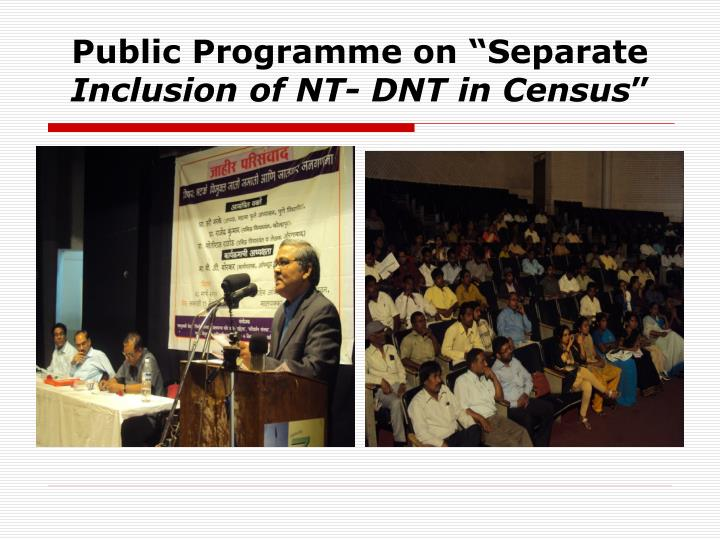 "Public Programme on ""Separate"