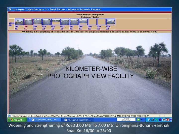 KILOMETER-WISE