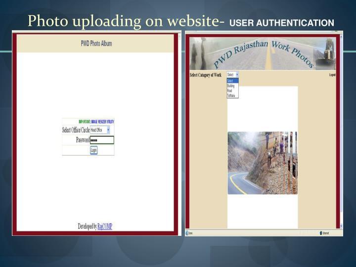Photo uploading on website-