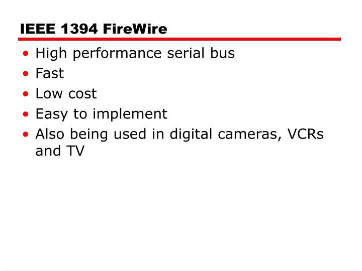 IEEE 1394 FireWire