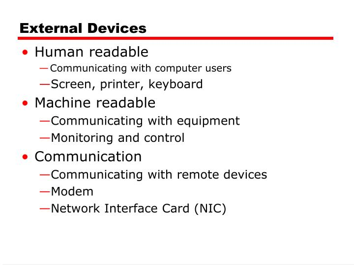 External Devices