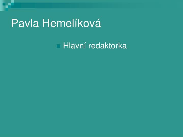 Pavla Hemelíková