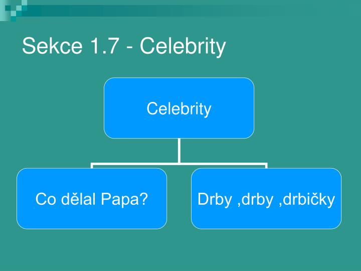Sekce 1.7 - Celebrity