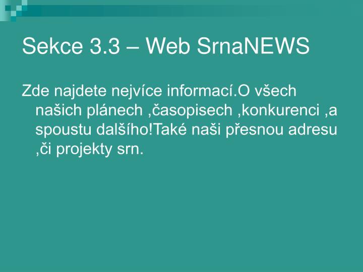 Sekce 3.3 – Web SrnaNEWS