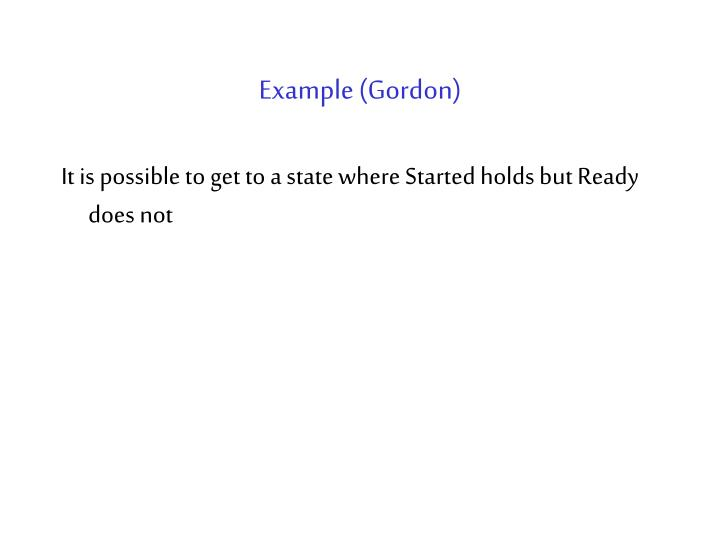 Example (Gordon)