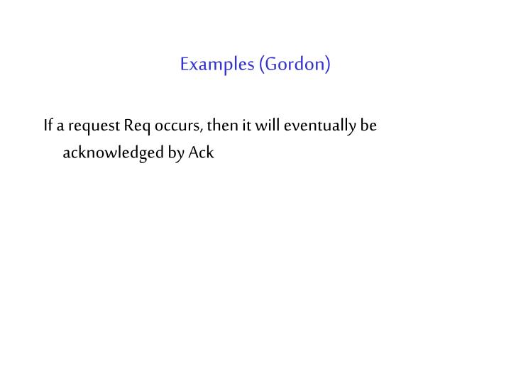 Examples (Gordon)