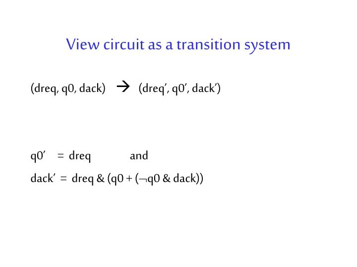 View circuit as a transition system