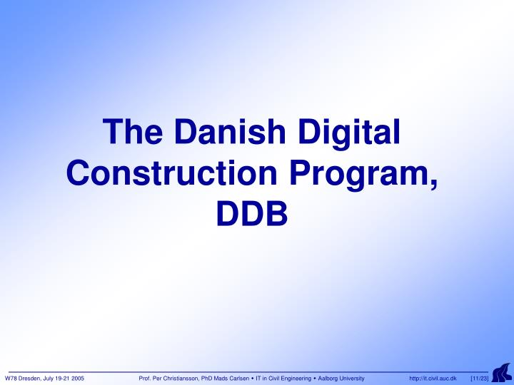 The Danish Digital Construction Program,