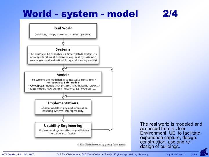 World - system - model        2/4