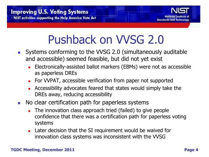 Pushback on VVSG 2.0
