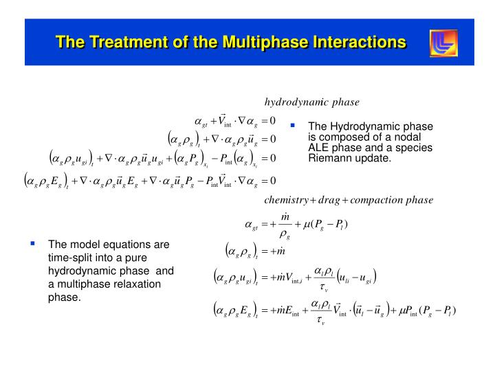 The Treatment of the Multiphase Interactions