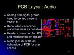 pcb layout audio