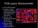pcb layout microcontroller