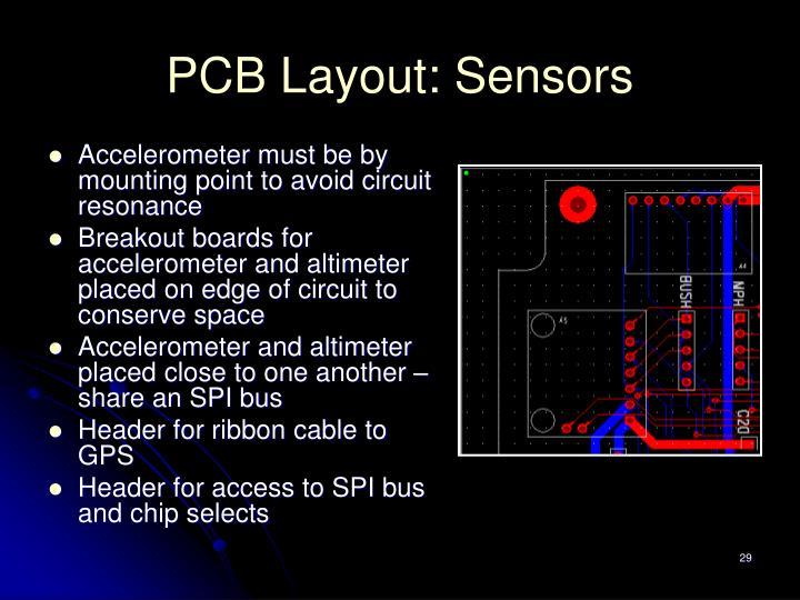 PCB Layout: Sensors