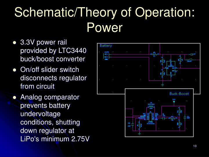 Schematic/Theory of Operation: Power