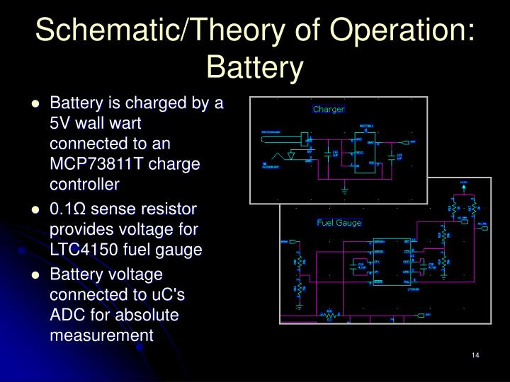 Schematic/Theory of Operation: Battery