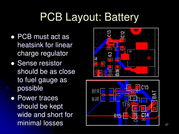 PCB Layout: Battery