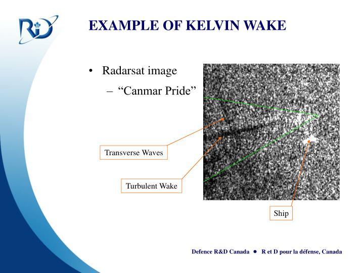 EXAMPLE OF KELVIN WAKE