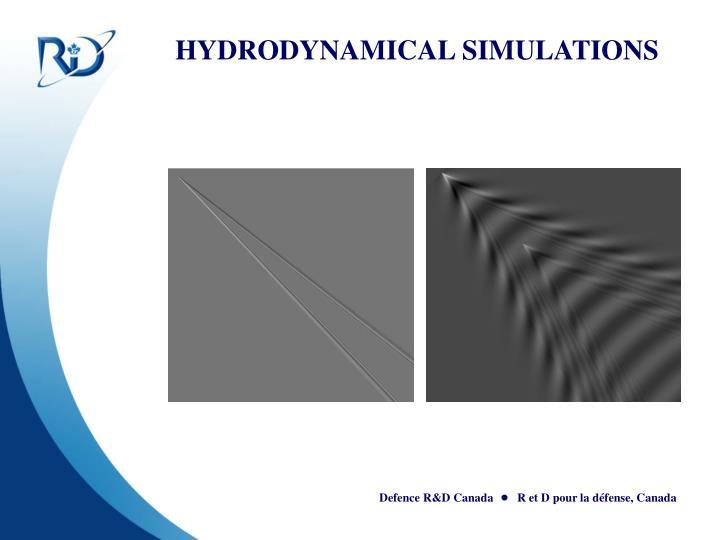 HYDRODYNAMICAL SIMULATIONS