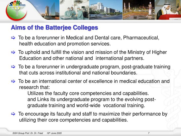 Aims of the Batterjee Colleges